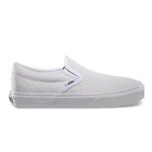 Vans perf leather shoe Mens 6.5 Womens 8 slip on